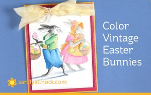 How to Watercolor a Vintage Rabbits Card
