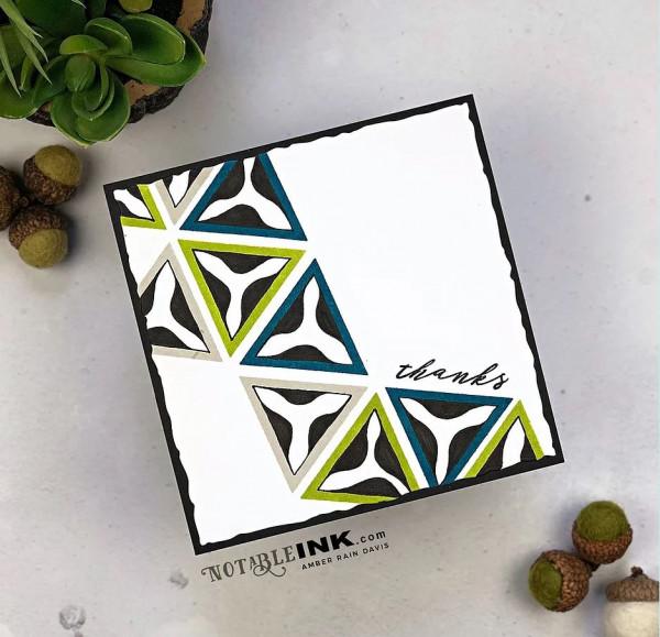 Geometric Masculine Card