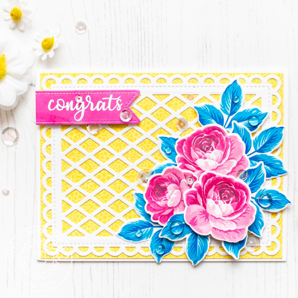 Rose and Trellis Card