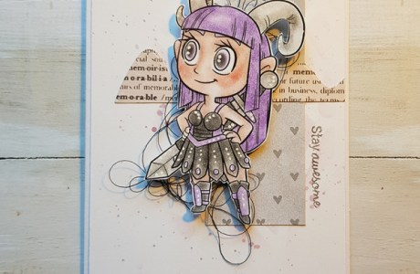 Aries Zodiac Digi Stamp