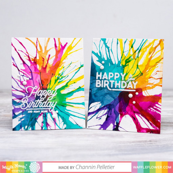 Blown Watercolor Cards