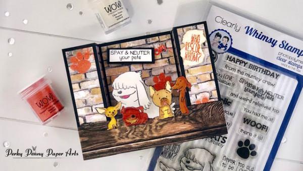 Bridge Fold Dog Card