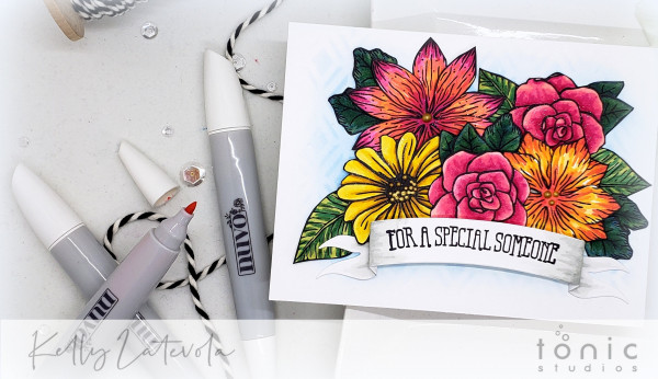 Floral Card with Nuvo Markers