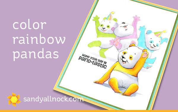 Rainbow Pandas Card