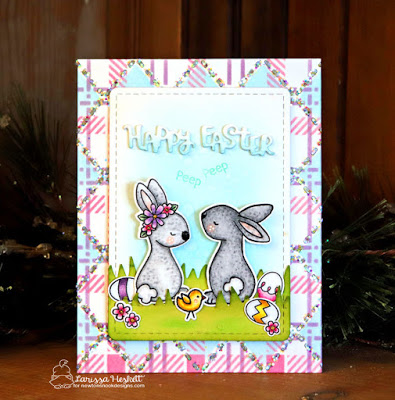 DIY Pattern Paper for an Easter Card