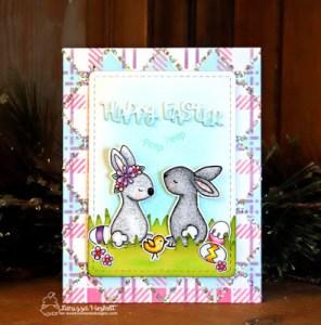 DIY Pattern Paper Easter Card