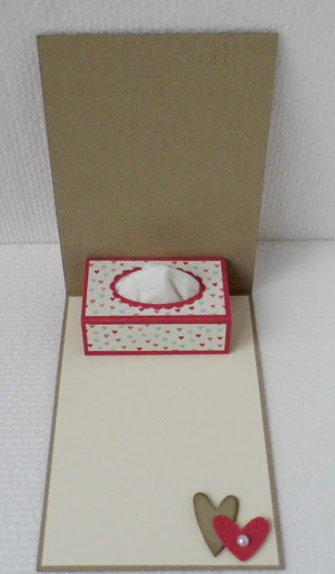 Tissue Box Pop Up Card