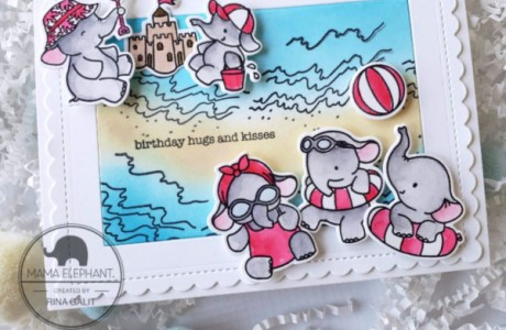 Elephants on the Beach Card