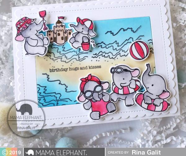 Elephants on the Beach Card