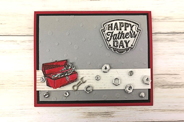 Father's Day Card with Faux Hardware