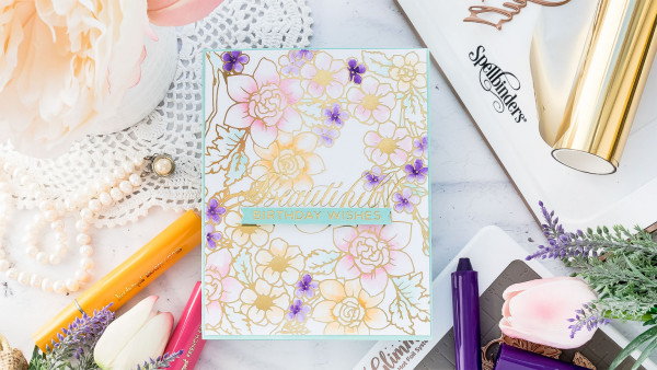 Foiling and Watercolor Card