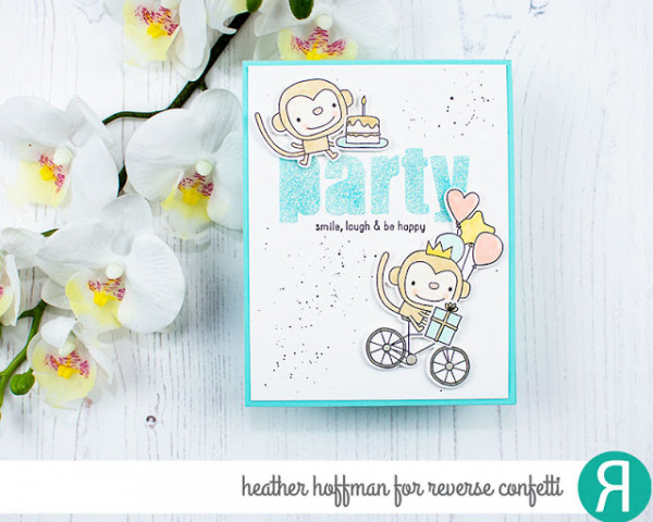 DIY Glitter Card Sentiment