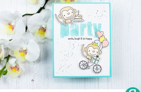 Custom Glitter Card Sentiment