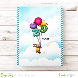 Bunny Balloon Card with Masking Technique