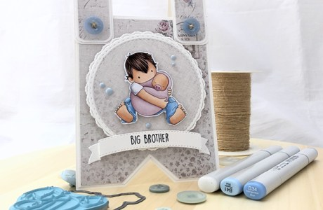 Big Brother Jumper Shaped Card