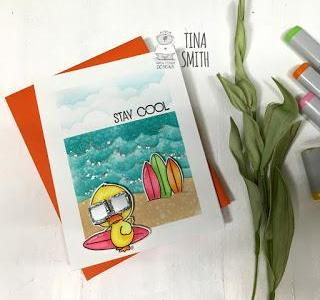 Cool Duck on the Beach Card