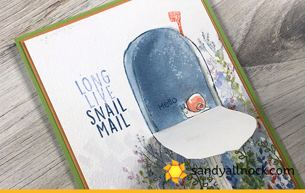 Snail Mail Mailbox Card