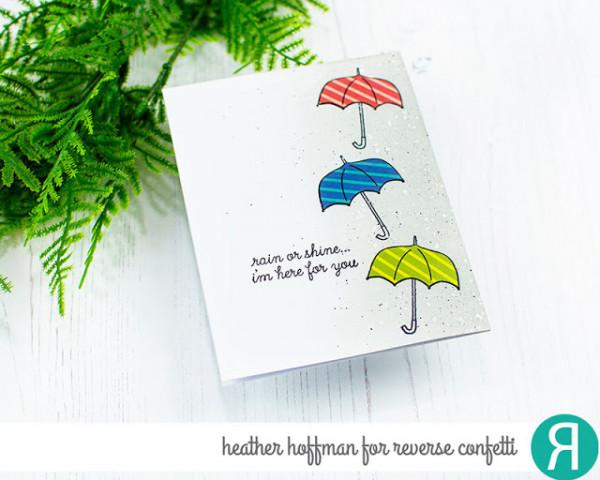 Paper Pieced Umbrellas Card