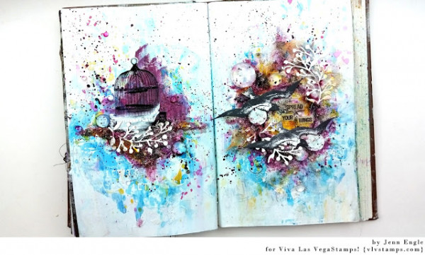 Wings Mixed Media Journal Page