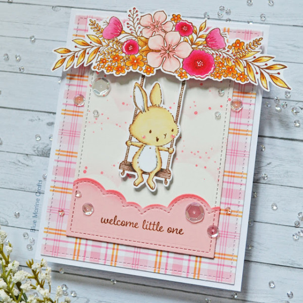 Swing Bunny Baby Card