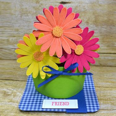Pop Up Flower Pot Card
