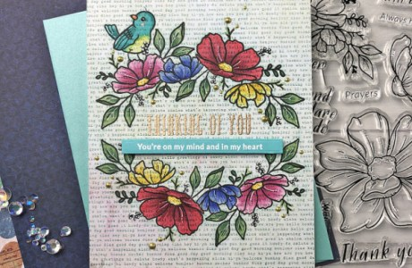 Stamping and Coloring Over Text
