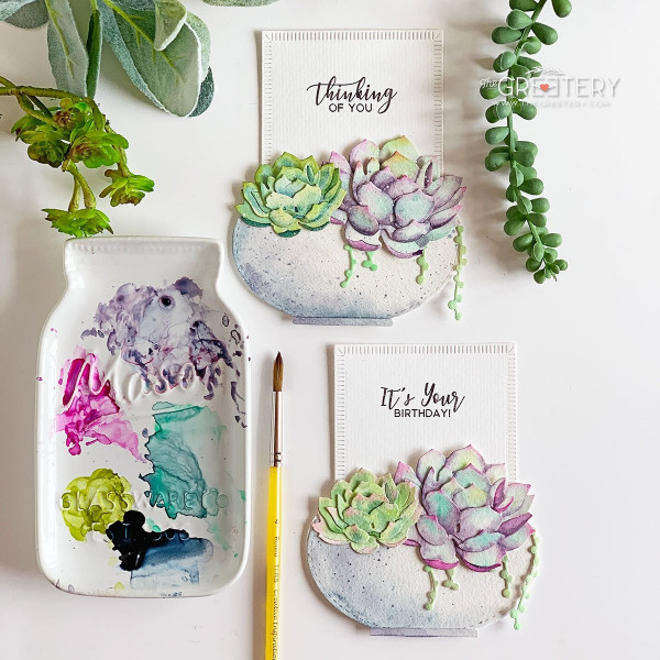 Succulents Slider Cards
