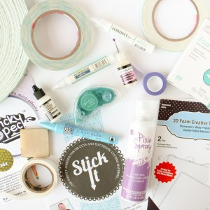 Adhesive Guide for Card Making