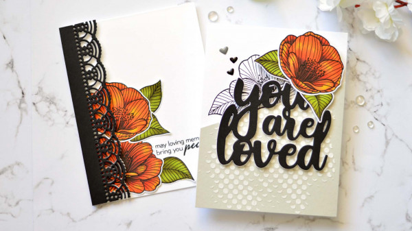 Fall Color Floral Cards
