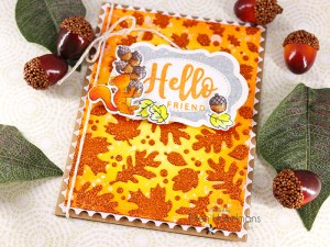 Glitter Fall Leaves Card