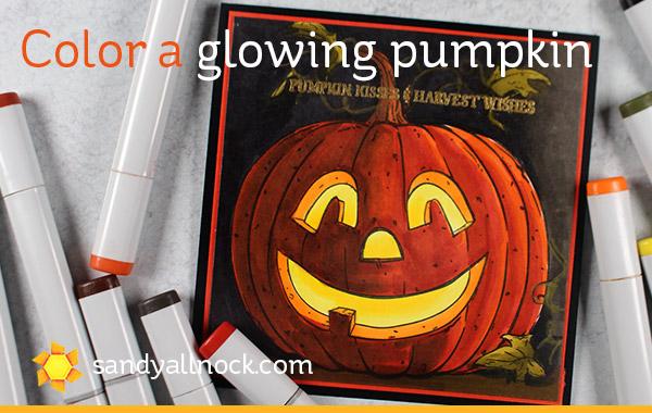 Glowing Jack O Lantern Card