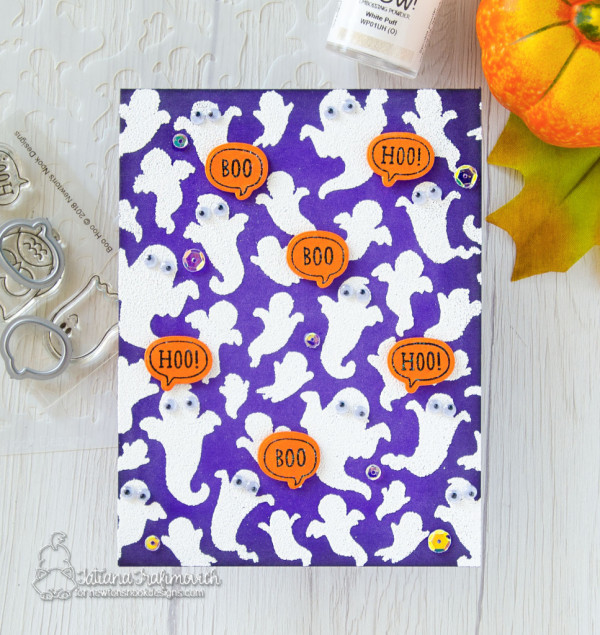 Puffy White Ghosts Card