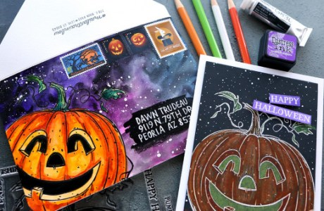 Jack O' Lantern Card and Envelope