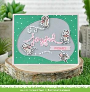 3 Skating Mice Holiday Cards