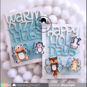 Snow Angel Wobble Cards