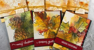 Easy Watercolor Holiday Cards