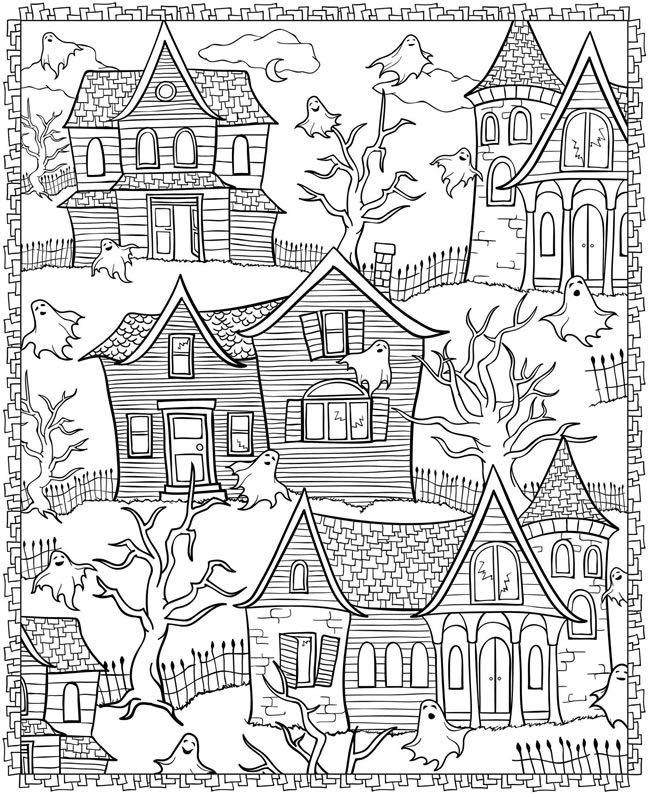 4 Halloween Coloring Pages