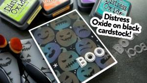 Distress Oxide Pumpkin Card