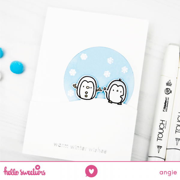 Simple Penguin Holiday Card