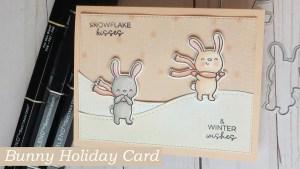 Bunny Holiday Card