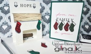Christmas Fireplace Pop Up Card