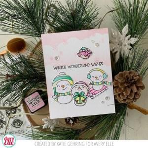 Snowman Card with DIY Stencil Background