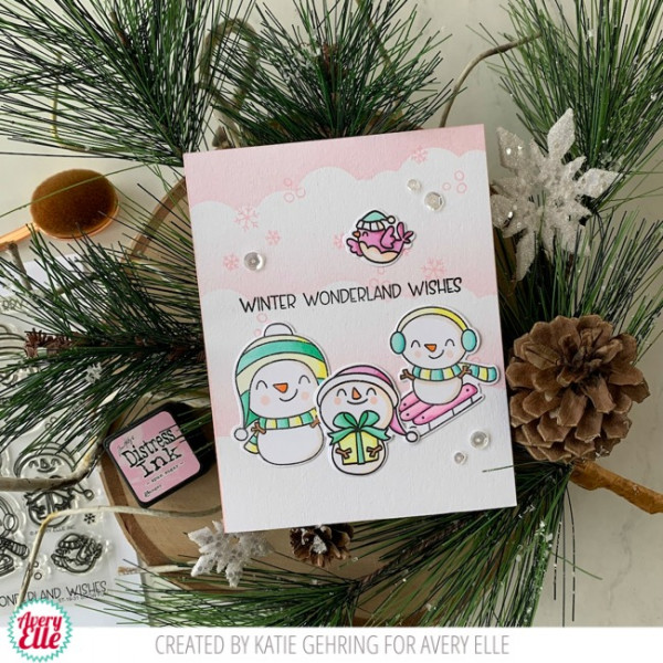Snowman Card with DIY Stencil Background