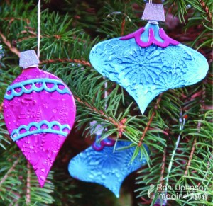 Embossed Christmas Ornaments