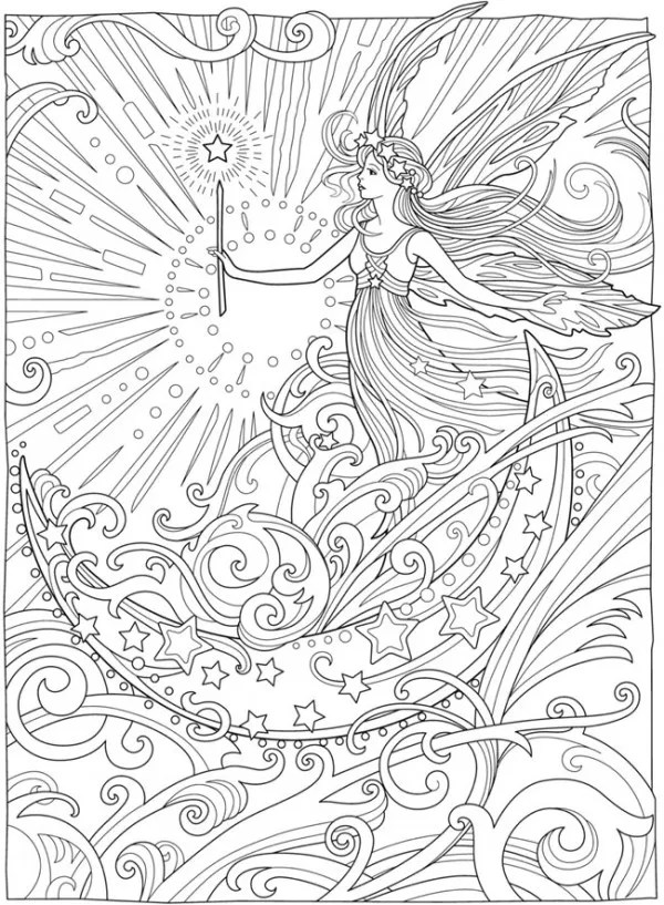 6 Magical Fairy Coloring Pages - Stamping