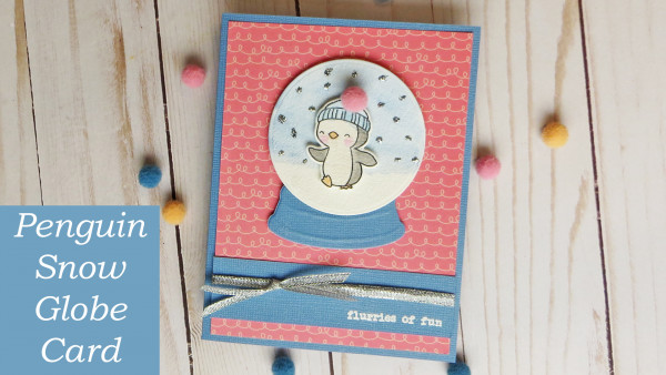 Penguin Snow Globe Card