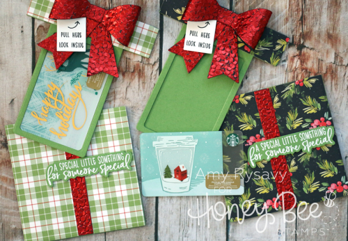 Pull Out Present Gift Card Holders