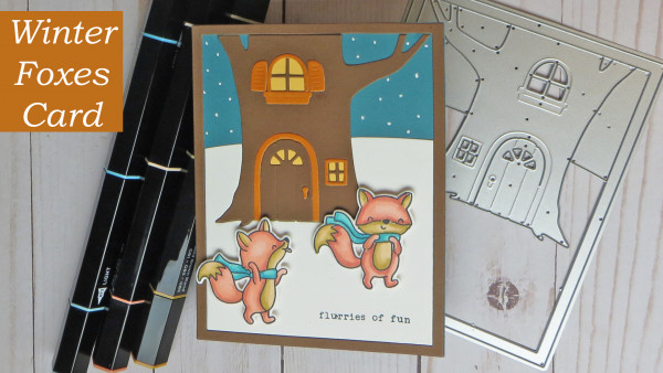 Winter Foxes Card