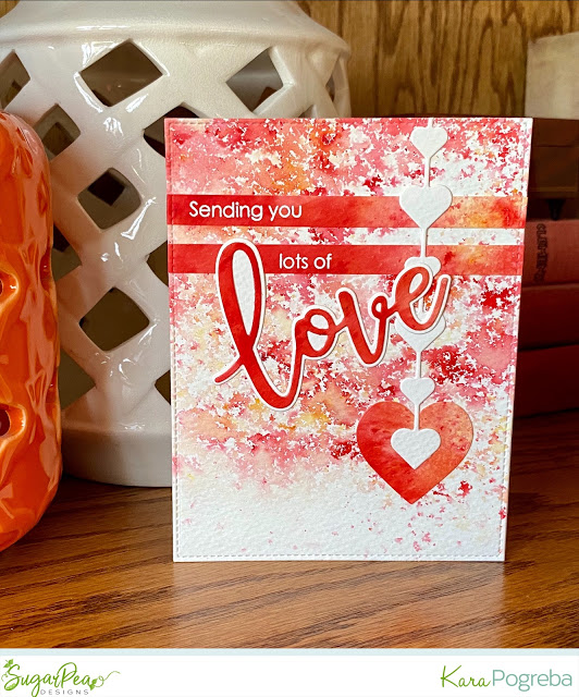 Valentine's Day Card with Watercolor Powders