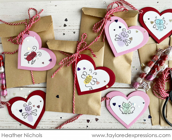 Finger Print Valentine's Day Tags